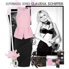 """""""Supermodel Series: Claudia Schiffer"""" by gokarm on Polyvore"""