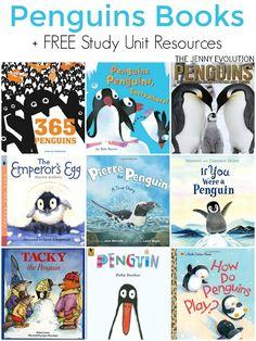 Children's Books about Penguins + FREE Study Unit Resources Preschool Books, Book Activities, Kindergarten Books, Sequencing Activities, Preschool Ideas, Artic Animals, Science Penguin, Animal Books, Winter Theme