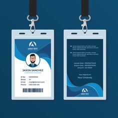 Corporate Id Card Design Template Royalty Free Vector Image within Company Id Card Design Template - Professional Templates Ideas Vertical Business Cards, Black Business Card, Business Card Psd, Business Plan Template, Id Card Design, Identity Card Design, Identity Branding, Brochure Design, Visual Identity