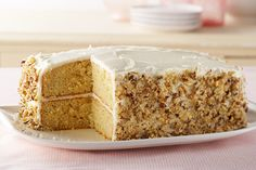Find a slew of wonderful banana cake recipes in this collection from Kraft Recipes. Banana cake recipes are a yummy way to celebrate any special occasion. Kraft Recipes, Cake Recipes, Dessert Recipes, Kraft Foods, Banana Recipes, Frosting Recipes, Dessert Ideas, How To Stack Cakes, How To Make Cake