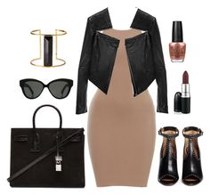 """""""Kim K. Style"""" by vero1983 ❤ liked on Polyvore featuring Linea Pelle, Givenchy, Yves Saint Laurent, Linda Farrow, Rachel Zoe and OPI"""