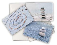 """3 cartes de voeux photos artistiques """"galets"""" de COULEURS DE NATURE sur DaWanda.com"""