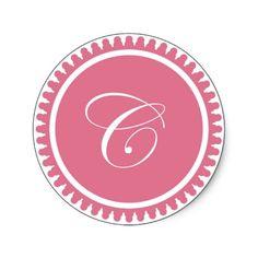 Initial C princess pink monogram