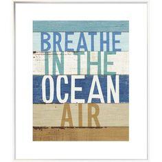 "East Urban Home 'Beachscape Inspiration V' Textual Art Format: Collins White Framed, Matte Color: No Matte, Size: 24"" H x 20"" W"