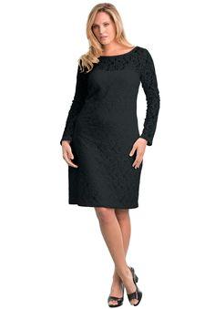 Jessica London® Lace Shift Dress | Plus Size Special Occasion Shop | fullbeauty