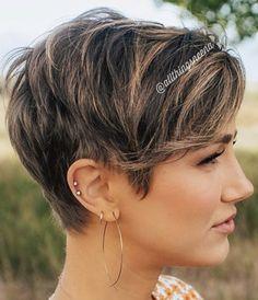 Short Cropped Hair, Very Short Hair, Short Hair Cuts For Women, Short Curly Hair, Curly Hair Styles, Bob Haircuts For Women, Thin Hair Haircuts, Cute Hairstyles For Short Hair, Pretty Hairstyles