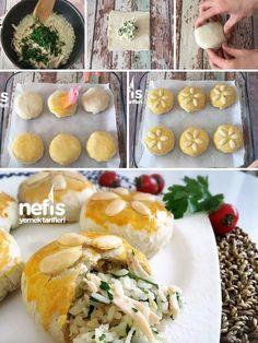 Porsiyonluk Perde Pilavı (Çok Pratik) Malzemeler 6 tane kare milföy hamuru 1 çay bardağı pirinç Yarım yemek kaşığı tuz (pirinç ıslatırken) 2 su bardağı ... - f. özbağ - Google+