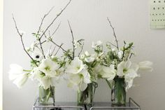 For a cold winter day decoration....  Love the white Amaryllis.  WeBloom Amsterdam for your floral decoration for events & Parties