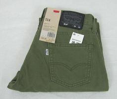 Levi's 514 Slim Fit Straight Leg Men's Green Jeans Pants Size 30/32 NEW #Levis #SlimFitStraightLeg 36.99