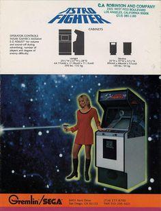 Astro Fighter Arcade Game Flyer 3 - (1980) - Sega/Gremlin/Data East - #arcade #retrogaming #oldschool #flyers