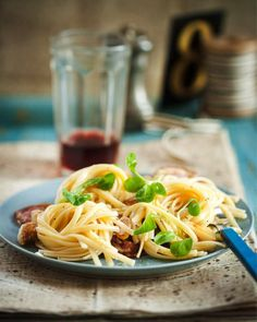 Sweet Paul's Pasta with Pancetta, Garlic, Lemon & Olives