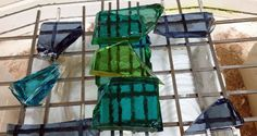 Morganica2 - Dripping in glass. Excellent blog post on how to combine transparent colours over a pate de verre mould.