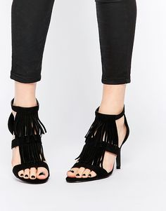 Shop Oasis Tassel Heeled Sandal at ASOS. Order now with multiple payment and delivery options, including free and unlimited next day delivery (Ts&Cs apply). Latest Outfits, Latest Clothes, Tassel Heels, Heeled Mules, Fashion Online, Tassels, Asos, Beauty Ideas, Online Shopping