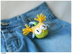 Handmade Keychain Owl Amigurumi Eule Schlüsselanhänger by Etilinki on Etsy