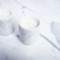 Marble candle white peonie scent via D a m o y . E  - s h o p. Click on the image to see more!