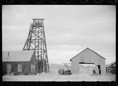 Abandoned gold mine, Goldfield, Nevada, March 1940 by Arthur Rothstein.
