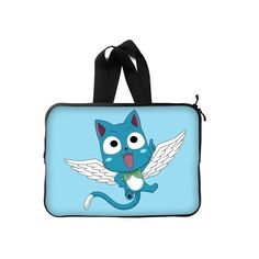 """Amazon.com: Happy - Fairy Tail Custom New Laptop Sleeve 13""""(Twin... (£15) ❤ liked on Polyvore featuring accessories, tech accessories and laptop sleeve cases"""