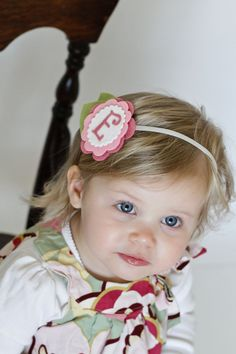 Baby Hair Clip or Baby Headband in Wool Felt by ChatterboxClippies, $12.00
