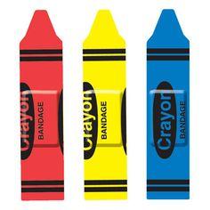 Crayon band aids