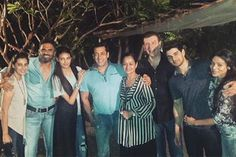 Bollywood superstar Salman Khan, who is launching newcomers Sooraj Pancholi and Athiya Shetty in his production 'Hero', hosted the first screening of the film at his farmhouse in Panvel on Tuesday