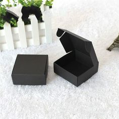 7.5*7.5*3cm black 100pcs #Retail Gift #Package Boxes Craft Gift Box #Handmade Soa,  View more on the LINK: 	http://www.zeppy.io/product/gb/3/250572924/