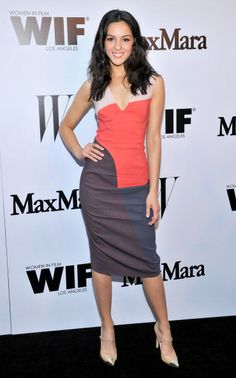 Annet Mahendru at the MaxMara And W Magazine Cocktail Party To Honor The Women In Film MaxMara Face Of The Future, Rose Byrne. Hair by Derek Williams. Makeup by KC Fee.