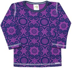"Kiwi Industries ""Violet Flora with Midnight Trim"" T-Shirt"