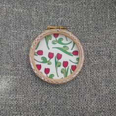 Anyone else like seeing the backs of embroidery hoops? 🙋 this one is from my latest - Bloom - and is backed with pretty floral card 🌹 still… Floral Card, Embroidery Hoops, Be Still, Coin Purse, Bloom, Purses, Pretty, Cards, How To Make