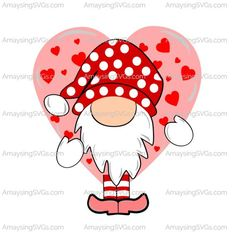 Valentine Images, Valentine Day Crafts, Be My Valentine, Valentine's Cards For Kids, Scandinavian Gnomes, Diy Ribbon, Cricut Creations, Rock Crafts, Crafts For Kids