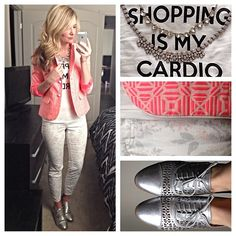 Shopping is my cardio- karla reeds instagram