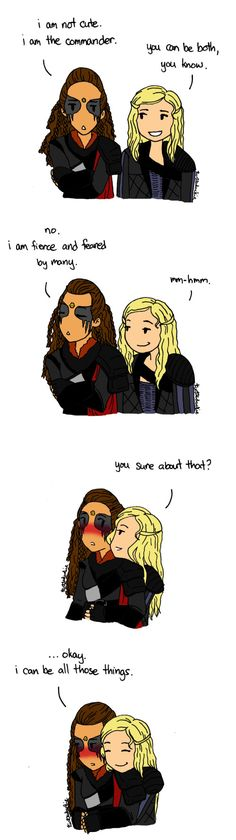 Clarke & Lexa #clexa by turtleduckie