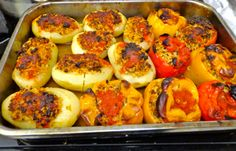 Eleni's Culinary Journey: Mom's Famous Gemista (Stuffed Peppers and Potatoes)