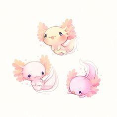 Kawaii axolotl :)