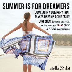 June Only! Become a Stella & Dot Stylist today and get $450 in free accessories  www.stelladot.com/nicolehazen