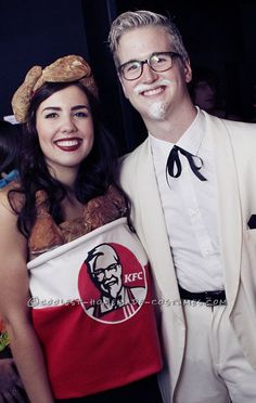 Colonel Sanders and His Bucket of KFC Chicken Couple Costume ... This website is the Pinterest of costumes