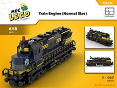 Amazon.com: Train engine (Normal end size) (Instruction Only): MOC LEGO eBook: Bryan Paquette: Gateway Lego City Train, Lego Trains, Toys For Boys, Boy Toys, Name Train, Lego Creative, Train Engines, Lego Design, Lego Parts