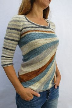 Ravelry: crazy stripes tee pattern by atelier alfa