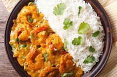 Really fast and low in calories - shrimp curry with vegetables - Kochrezepte - Garnelen Indian Shrimp Curry, Curry Shrimp, Indian Food Recipes, Asian Recipes, Healthy Recipes, Ethnic Recipes, Fast Recipes, Calories Shrimp, Plats Healthy