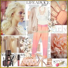 """""""Peachy..."""" by drn57 on Polyvore"""