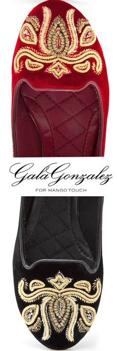 TOUCH - EMBROIDERED VELVET LOAFERS BY GALA GONZALEZ