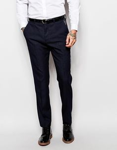 ASOS Slim Suit Trousers In Polka Dot