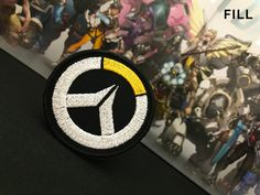 Overwatch inspired patch // ornament Mercedes Benz Logo, Fight For Us, Satin Stitch, Overwatch, Different Colors, Adhesive, Badge, Patches, Bring It On