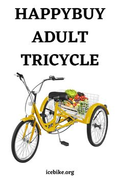 The Happybuy adult tricycle is one of the amazing choices that you can have in the market. It comes packed with a HI-TEN Steel frame that offers amazing durability and stability. The steel frame also makes the tricycle capable of carrying the weight and any kind of cargo up to 150 kgs. #bikes #roadbikes #mountainbikes #hybridbikes #electricbikes #comportbikes Adult Tricycle, Road Bikes, Mountain Biking, Things To Come