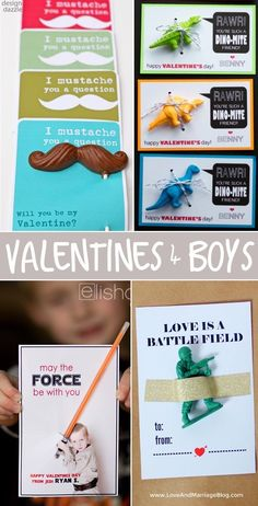 Valentine's for Boys! Animals, cars, minions, monsters, and more.