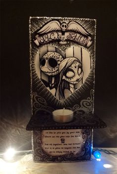 Day of the Dead Nightmare Before Christmas Jack and Sally Lowbrow Nicho Art Sally Nightmare, Nightmare Before Christmas, Jack Tim Burton, Jack The Pumpkin King, Jack And Sally, Christen, Jack Skellington, Day Of The Dead, Hallows Eve