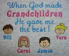 When God made grandchildren grandma sweatshirt