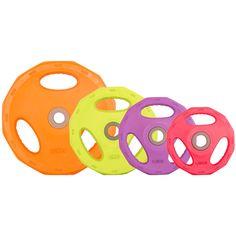 Unsere neuen Hantelscheiben Gummi Gripper - 30 mm - bunt sind da.  Girls like them!  Siehe hier: http://www.megafitness-shop.info/Kraftsport/Hanteln-Gewichte/Hantelscheiben/30-mm/Hantelscheiben-Gummi-Gripper-30-mm-bunt--3809.html