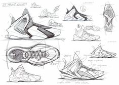 Marc Dolce's Lil Penny Posite design is your Sneaker Sketch of the Week #nike #nikesportswear