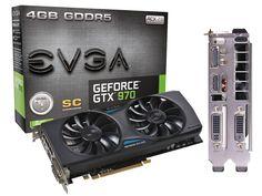 Placa de Video EVGA GeForce® GTX 970 Superclocked ACX 2.0 2GB GDDR5