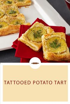 This warm potato-Parmesan tart makes a comforting, easy-going, yet super-impressive appetizer. It's a delicious dish, perfect for St. Easter Appetizers, Appetizer Salads, Appetizers For Party, Appetizer Recipes, Puff Pastry Recipes, Tart Recipes, Cooking Recipes, Pepperidge Farm Puff Pastry, Pastries